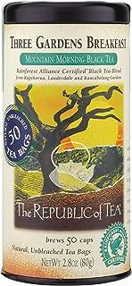The Republic of Tea Three Gardens Breakfast Black Tea, 50 Tea Bag Tin