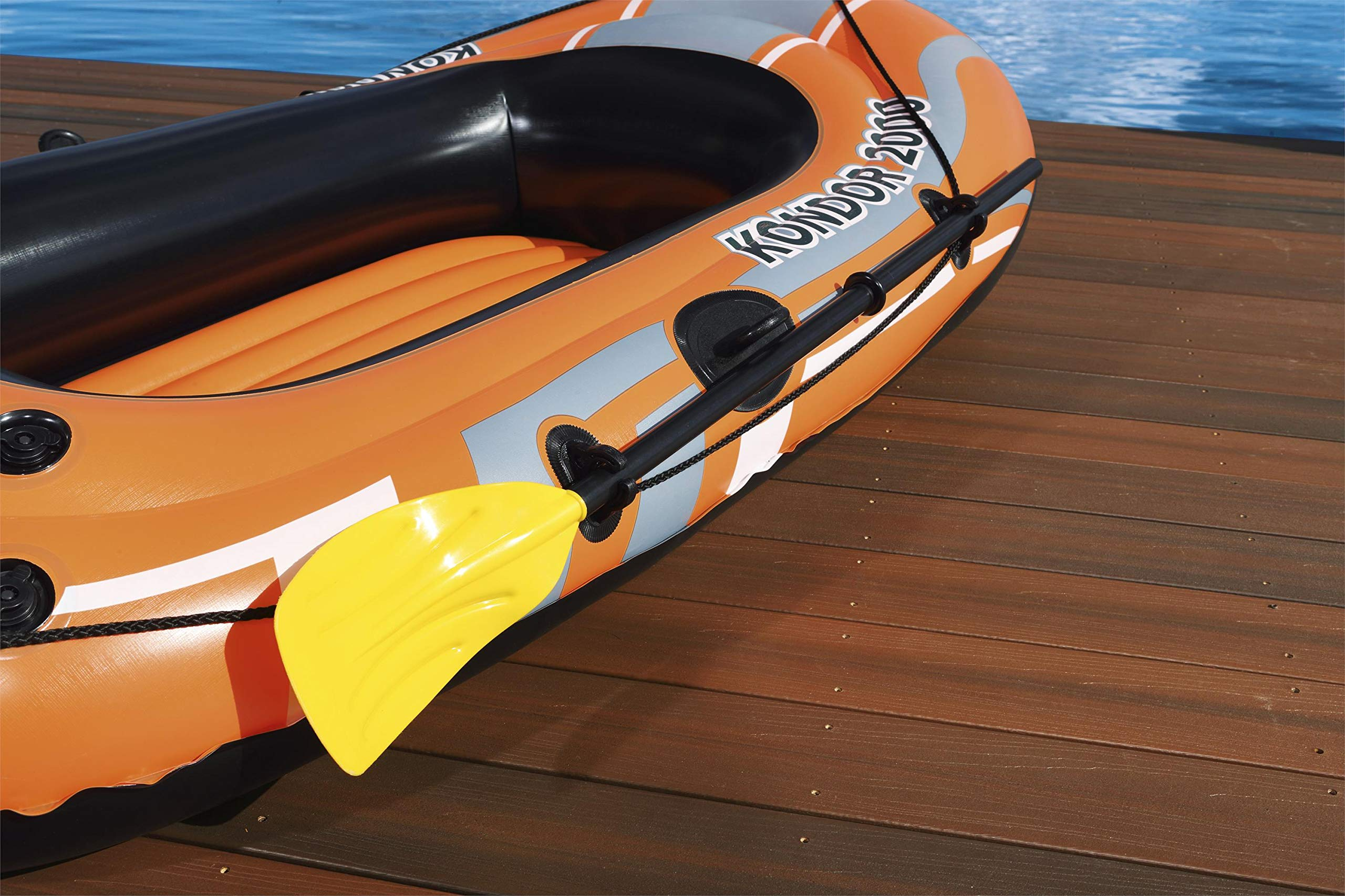 Bestway Kondor 1000//2000 Inflatable Raft Beach Boat Swimming Float Paddle Dingy