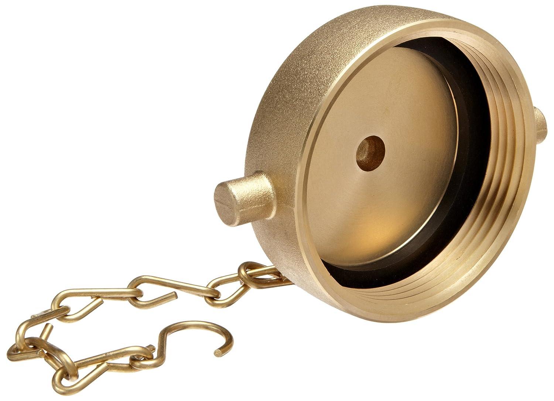 Moon 662-2521 Brass Fire Hose Fitting, Cap, 2-1/2
