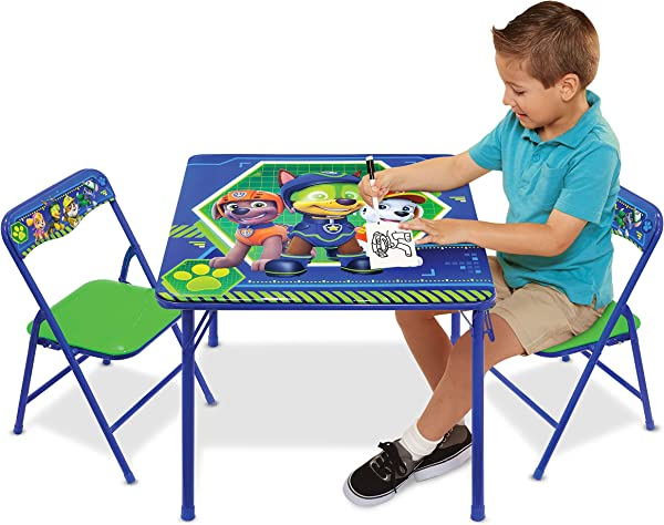 Nickelodeon Patrol Code Paw Activity Table Play Set With Two Chairs Blue Green
