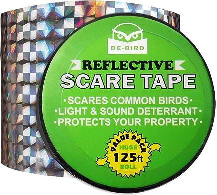 De-Bird - Nastro repellente antiuccelli - superficie olografica riflettente - contro piccioni e altri volatili - 38 m