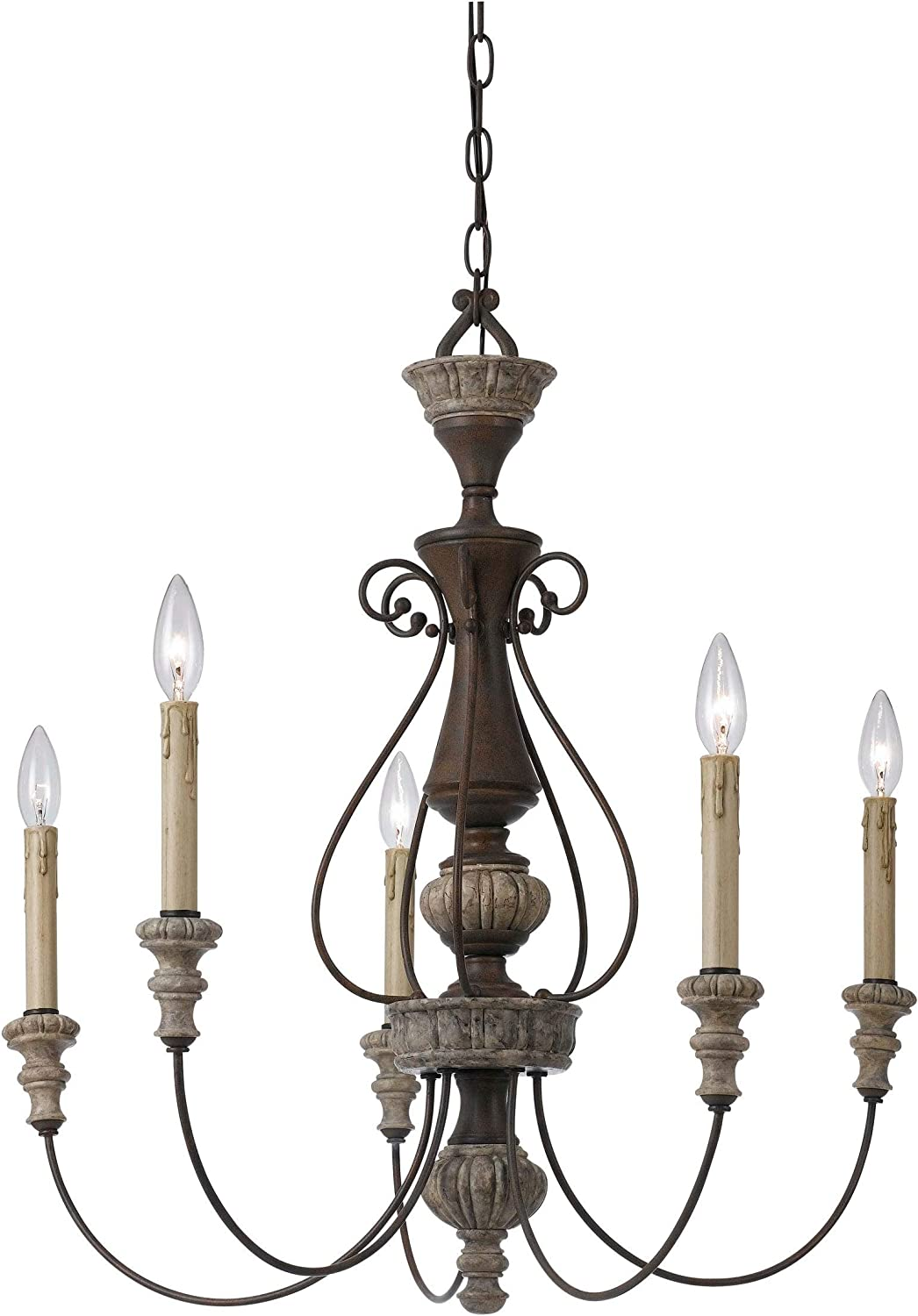 UKN 5 sold out Light Metal Candle Chandelier Scrolled a Details with Gray Large special price