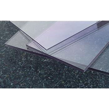 400 x 800 mm 2,0 mm stark beidseitig foliert Wunschma/ß Zuschnitt bis Gr/ö/ße 40 x 80 cm UV-best/ändig B/&T Metall Acrylglas PMMA XT Platte transparent