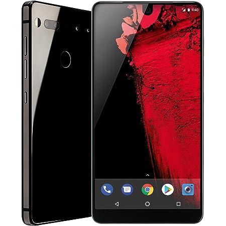 Essential Phone in Black Moon – 128 GB Unlocked Titanium and Ceramic phone with Edge-to-Edge Display