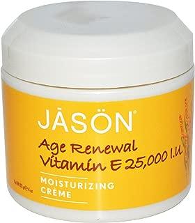 Jason Natural, Age Renewal Vitamin E, Moisturizing Creme, 25,000 IU, 4 oz (113 g) - 2pc