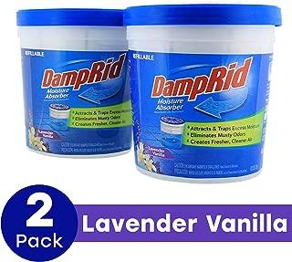 DampRid Moisture Absorber FG60LV Lavendar Vanilla 10.5-Ounce, 2-Pack, Lavender, 21 oz