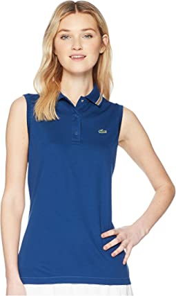 Lacoste - Sleeveless Ultra Dry Tennis Polo with Mesh Back