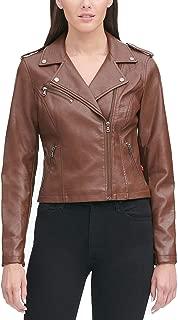 Women's Faux Leather Classic Asymmetrical Motorcycle Jacket
