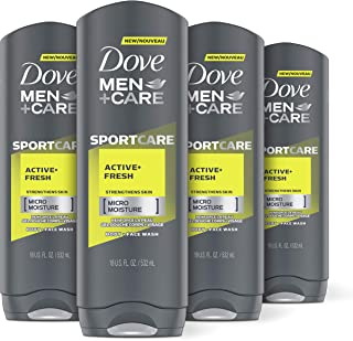 Dove Men+Care Sport Body and Face Wash for Fresh, Clean Skin Active and Fresh Effectively Washes Away Bacteria While Nouri...
