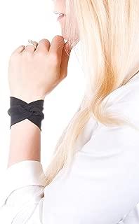 Twist Fabric Wrist Cuff Bracelet (Black)