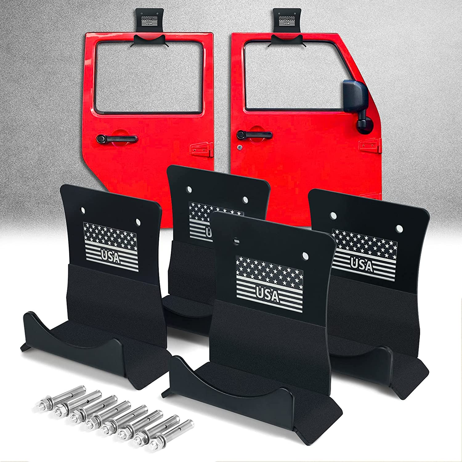 HM Super sale period limited Wall Mount Removable Door Hangers Jeep for half Heavy Storag Duty