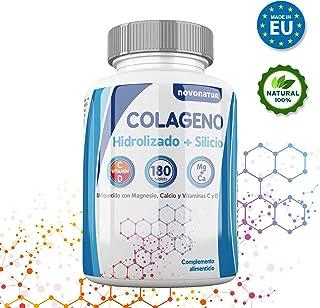 Colageno hidrolizado con magnesio, calcio, vitamina C y D, mas Silicio, protege