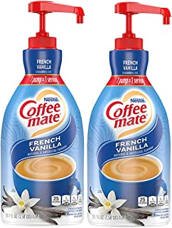 Nestle Coffee Mate Coffee Creamer, French Vanilla, Liquid Pump Bottle, Non Dairy, No Refrigeration, 50.7 Fl Ounce (Pack of 2)