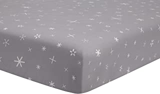 Babyletto Fitted Crib Sheet, Galaxy Galactic Grey Stars
