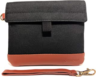 Premium Smell Proof Bag 7x6 inch with Vegan Leather | Carbon Lined | Double Sealed | Sleek Waterproof Zipper | Eliminates Strong Odors | Dog Tested