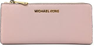 bba3f63264fb Michael Kors Jet Set Large Three Quarter Zip Around Saffiano Leather Wallet