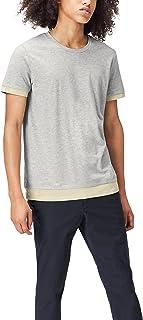 comprar comparacion Marca Amazon - find. Camiseta Clásica con Detalle en los Bordes para Hombre