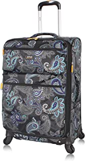 Best Designer Luggage - Expandable 28 Inch Softside Bag with Pattern- Durable Large Ultra Lightweight Checked Suitcase with 4-Rolling Spinner Wheels (Diva) Review