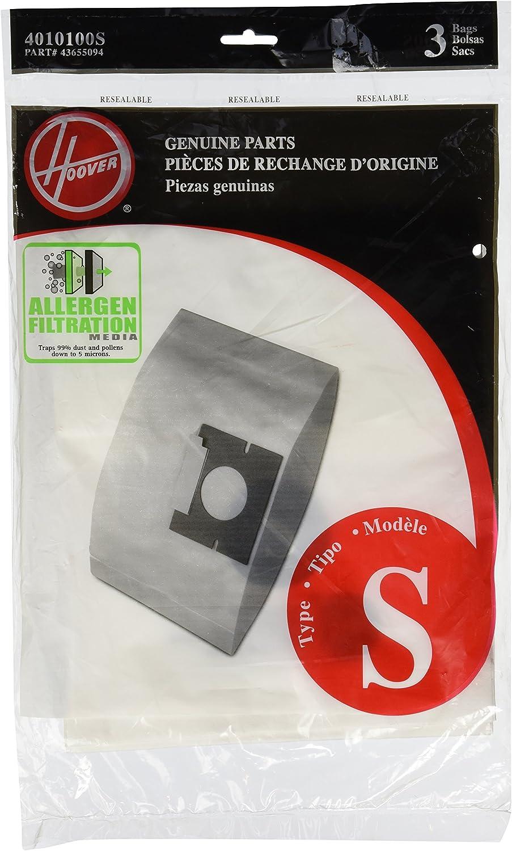 Pour HOOVER S3660 Compact pack de 5 H10 aspirateur sac à poussière