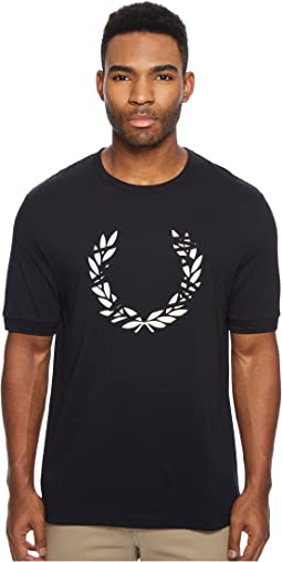 Fred Perry Scratch Laurel Printed T-Shirt