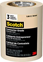 Scotch - 2020-48EVP Contractor Grade Masking Tape, 1.88 inches x 60.1 yards (180 yards total), 2020, 3 Rolls