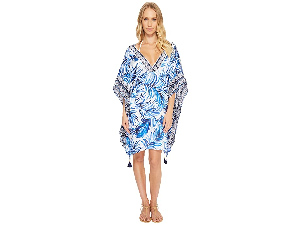 Tommy Bahama Fuller Fronds V-Neck Tunic Cover-Up (White) Women