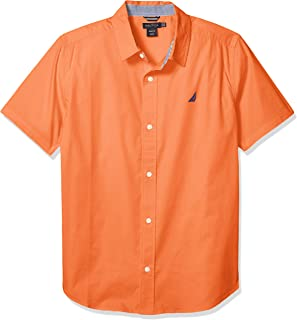 Nautica Boys' Short Sleeve Button Up Shirt