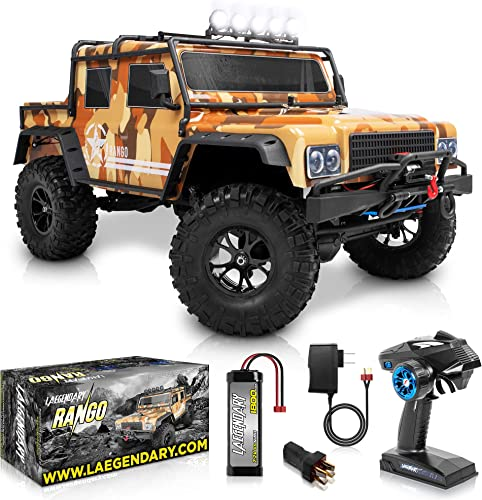 2021 1:8 Scale discount Large Rock RC Crawler - 4WD Off Road RC Cars - Remote Control Car 4x4 Electric Truck – Hobby Grade IPX5 Waterproof Trucks for Boys high quality and Adults - RTR with 5Ch Remote, Battery and Charger sale