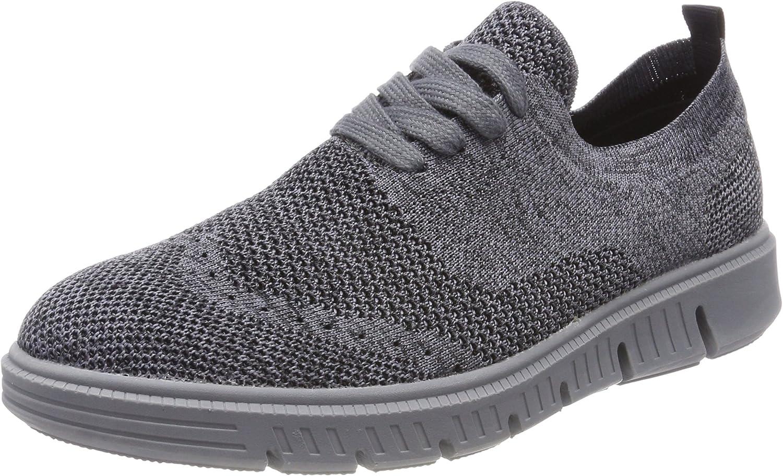 Josef Seibel Men's Falco Lace Up Fashion Sneaker Grey 42 M EU