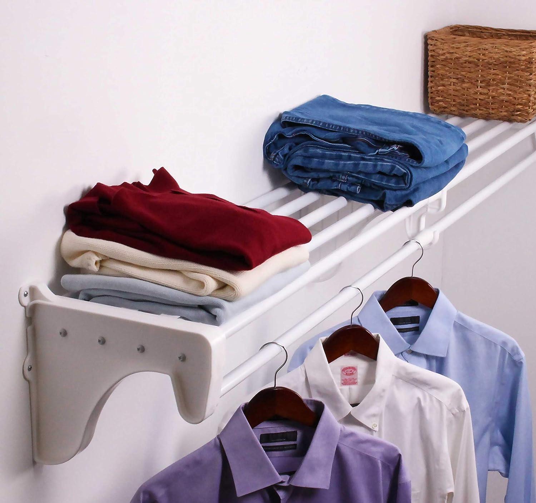 EZ Shelf DIY 2021 spring and summer new Expandable Closet Rod White - 120