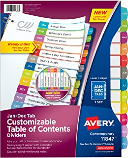 Best ready index table of contents dividers Reviews