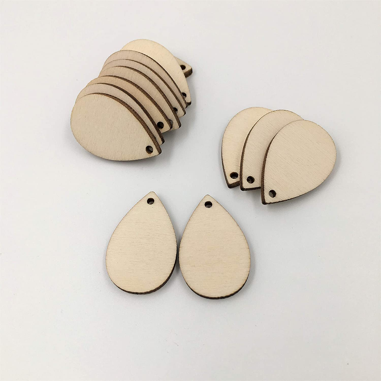 NUO RUI Unfinished Wood Teardrop Blank High Max 76% OFF quality Cutouts Laser Earrings Cu