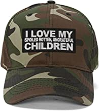 I Love My Spoiled Rotten Ungrateful Children Hat - Funny Quote Cap Great Gift for Dad