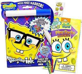 Spongebob Squarepants Coloring Book Set -- Spongebob Imagine Ink Book with Magic Pen, Play Pack with Fun-Size Activity Boo...