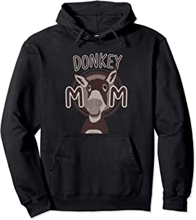 Womens Donkey Mom Outfit Clothes Stuff Lover Gift Girls Pullover Hoodie