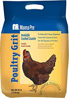 Manna Pro Poultry Grit | Insoluble Crushed Granite | 25 Pounds