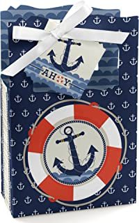 Ahoy - Nautical - Baby Shower or Birthday Party Favor Boxes - Set of 12