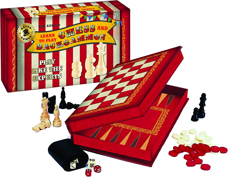Chess & Backgammon Set Vintage