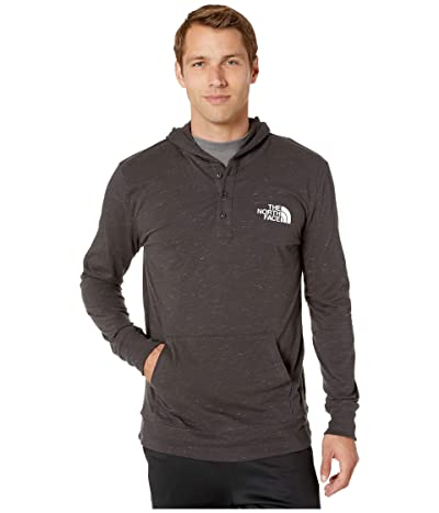 The North Face Henley New Injected Pullover Hoodie (TNF Dark Grey Heather/TNF White) Men