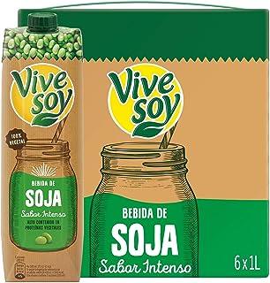Vivesoy - Bebida de Soja sabor Intenso - Paquete de 6 x 1000 ml - Total