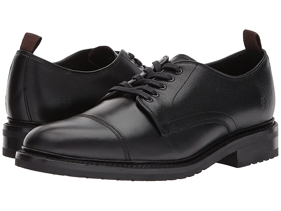 Frye Officer Oxford (Black Smooth Pull Up/Scotch Grain) Men
