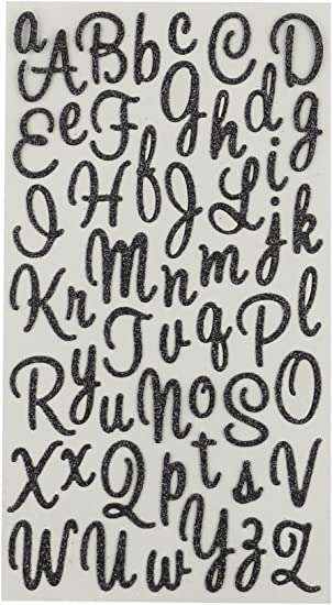 Pink Script Alphabet Sticker