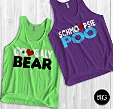 Googaly Bear Schmoopsie Poo Mike and Celia Matching Tank tops Monsters inc shirts Vacation tank tops Couples