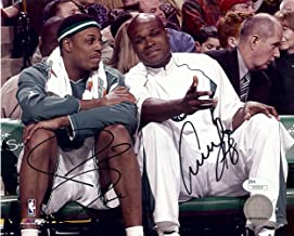 Paul Pierce Antoine Walker Signed Autographed 8X10 Photo Celtics on Bench JSA