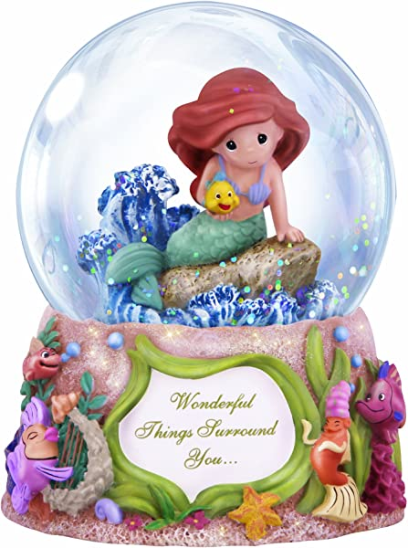 Precious Moments Disney Showcase Collection Wonderful Things Surround You Musical Resin Glass Snow Globe 132108