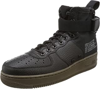 Womens SF AF1 Mid High Top Lace-Up Sneakers Black 6.5 Medium (B,M)