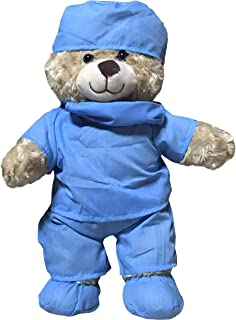 Doctor & Nurse Teddy Bear Plush Toy to Protect and Cuddle at Bedtime by ZZZ Bears (Nurse)