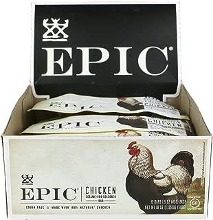 EPIC Chicken Sesame BBQ Protein Bars, Whole30, 12 Count Box 1.5oz bars