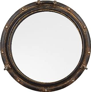 Creative Co-op Port Hole Framed Mirror, 22
