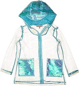 Transparent Raincoat with Sequins (Little Kids/Big Kids)